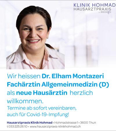 Inserat_Hausarzt_ Elham Montazeri